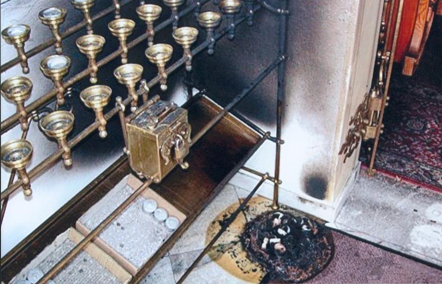 Brand in der Kapelle Gruberau