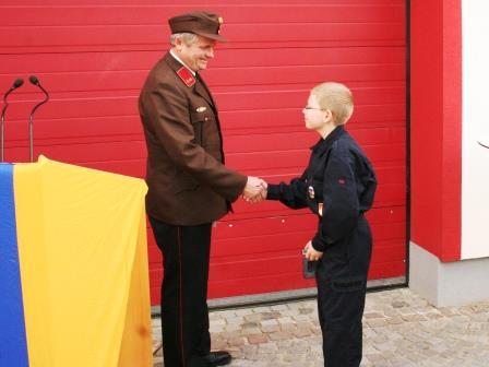 Angelobung Mitglied der Feuerwehrjugend Sulz