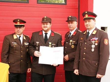 Verdienstzeichen des NÖ Landesfeuerwehrverbands 2. Klasse in Silber  - BI Markus Friedl