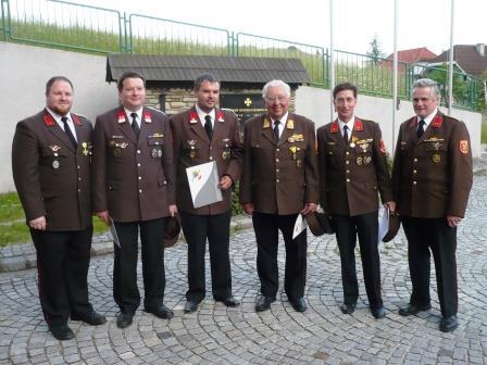 BI Markus Friedl, OBM Herbert Embacher jun. LM Christian Massatsch, EOBR Florain Breis, EBI Peter Sereda, OBI Johann Embacher jun.